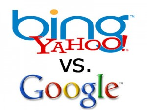 yahoo and bing vs google