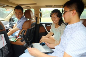 "Team members debug the system of a mind-controlled car during a test at Nankai University in Tianjin, China, 15 July 2015. No need to hold the steering wheel or step on the gas. Chinese scientists created a car that you control with nothing more than brainpower. Developed by a research team from Nankai University in Tianjin in collaboration with Chinese car maker Great Wall Motor, the new vehicle was presented to the world for the first time on Wednesday (15 July 2015). The car is controlled via a headset with 16 sensors that sends impulses from the user's brain to the car's processing system. Spectators watched as the vehicle moved forward and backward; and was locked and unlocked -- all through the power of the mind. The sensors capture brain signals and the recognition system analyzes them, translates them into driving instructions and sends them to the car. The team who designed the vehicle claim this is the first time Chinese researchers have controlled a car in this way. Duan Feng, associate professor at the university's computing and control engineering department, said that there was still some way to go before the technology can be put into production. ""The technology is quite mature, however, there is some room for improvement concerning the car's electronics, which will make the vehicle more secure, intelligent, and user-friendly,"" he said. The technology could transform driving and help disabled people drive, he added."